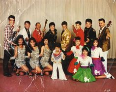 Bruno is the little Elvis in the middle