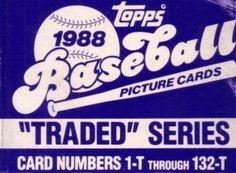 1988 Topps Traded set of 132 baseball cards (Jim Abbott, Roberto Alomar, Mark Grace, Tino Martinez, Robin Ventura etc) by Topps. $9.04. New and never opened 1988 TOPPS Traded Series Baseball Cards.