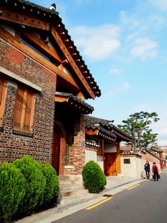 Traditional Hanok houses in Seoul, South Korea