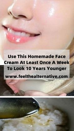 Use this homemade face cream at least once a week to look 10 years younger! This remedy consists of only natural ingredients that you already have in your kitchen and has been used for ages by women all over the world to look young! Natural Skin Tightening, Baking Soda Face, Diy Beauty Treatments, Natural Face, Healthy Tips, 10 Years, That Look, Homemade, Recipes