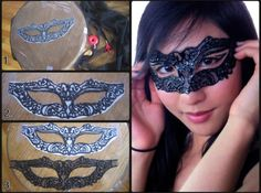 masquerade mask template | Masquerade, Masquerade, Every face a different ... | Craft projects