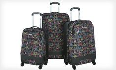 Groupon - Olympia 3-Piece Monroe Spinner Luggage Set. Free Returns. in Online Deal. Groupon deal price: $129.99