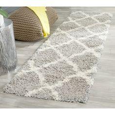 Safavieh Dallas Shag Grey/ Ivory Rug (2'3 x 8')   Overstock.com Shopping - The Best Deals on Runner Rugs