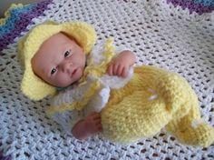 """Buttercup - 14"""" newborn - Free Original Patterns - Crochetville"""