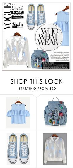 """""""Sheinside Contest"""" by barcelona-man ❤ liked on Polyvore featuring Topshop, WithChic, Essie and Who What Wear"""