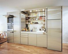 Incredible folding kitchen.