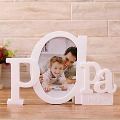 Diy Gifts For Dad, Diy Gift Box, Gifts For Office, Fathers Day Photo, Fathers Day Crafts, Wood Block Crafts, Personalized Photo Frames, Unique Woodworking, Paper Crafts Origami