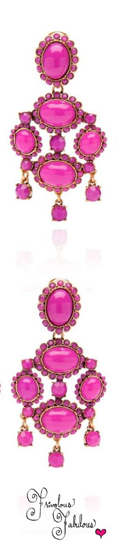 Frivolous Fabulous - Oscar De La Renta Hot Pink Earrings