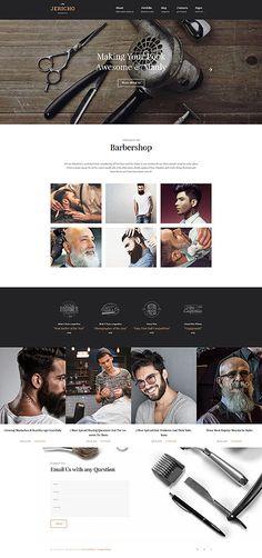 Local Barbershop Page #Wordpress #template. #themes #business #responsive #Wordpressthemes