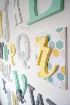 Wooden letters Wooden Alphabet Letters, Names