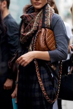 The Chanel flap bag / brown  **impossible to find in boutiques** <3 Fashion Style