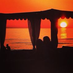 Sunset Singita Miracle Beach Fregene, Rome, Italy beach club, sunset & aperitif
