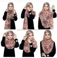 Hijab Square Hijab Tutorial, Simple Hijab Tutorial, Pashmina Hijab Tutorial, Hijab Style Tutorial, Stylish Hijab, Hijab Chic, How To Wear Hijab, Girl Hijab, Hijab Bride