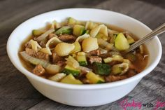 Leftover Roast Beef Soup - a great way to repurpose leftovers into an entirely different meal!