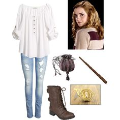 """Hermione Granger"" by fashion-cheerleader on Polyvore"