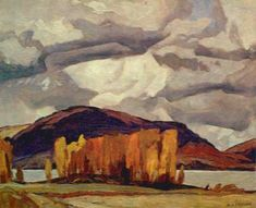 Alfred Joseph Casson. Canadian (1898 - 1992) - The Group of Seven - Kamaniskeg Lake Autumn