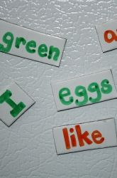 Make a Story with Magnetic Words! In Green Eggs and Ham, Dr. Seuss created an incredibly imaginative story using only 50 distinct words. Can your kid get creative with storytelling?