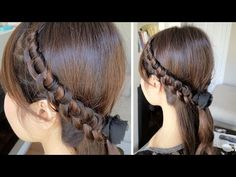 #Braid your hair into a headband