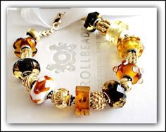 The warmth of Trollbeads amber and gold work hand & hand to take your breath away. This is a bracelet featured on Trollbeads Gallery Forum.