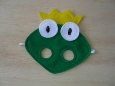 El príncipe rana máscara para niños por Mahalo en Etsy