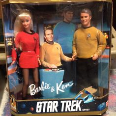 Anniversary Collector Edition 1996 Barbie and Ken Star Trek Gift Set Mattel for sale online Barbie Y Ken, Barbie Dolls For Sale, Ken Doll, Mattel Barbie, Barbie Sets, Star Trek Gifts, Star Trek Toys, Star Wars, Gi Joe