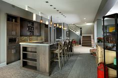 Hasserton - contemporary - Basement - Grand Rapids - Visbeen Architects