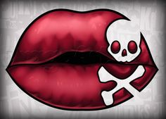 How to Draw Pirate Lips, Step by Step, Tattoos, Pop Culture, FREE ...