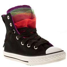 c9f534bd2ac9 Girl s Black   Purple Converse All Star Party Hi Junior at schuh