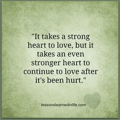 Strong heart.
