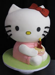 Hello Kitty Sculpted Birthday Cake by Amanda Oakleaf Cakes, via Flickr