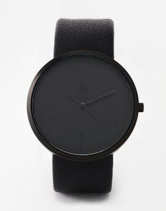 ASOS+Monochrome+Watch+In+Black