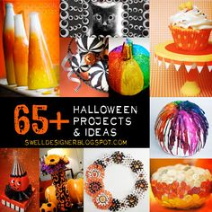 Halloween Projects and Ideas from The Swell Life.planning on getting into Halloween this year Halloween Boo, Halloween Projects, Holidays Halloween, Halloween Treats, Happy Halloween, Halloween Decorations, Fun Projects, Project Ideas, Holiday Crafts