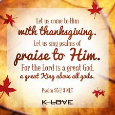 LIFE LESSON FOR TODAY: BIBLE TELLS U 2 B THANKFUL!