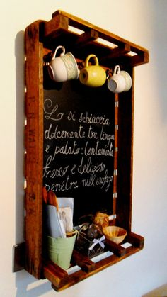Rustic Chalkboards made from Vintage Apple Crates on Etsy, $51.72