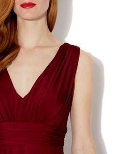 V neck maxi dress uk house