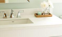 Bathroom | Vanity countertop installation | LATITUDE COUNTERTOPS