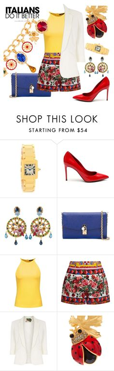 """""""Playful"""" by ellenfischerbeauty ❤ liked on Polyvore featuring Dolce&Gabbana, Raoul, Jolie Moi and fun"""