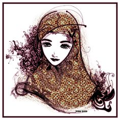 Yup..I finally got to draw an arabian muslim girl wearing hejab (scarf) ^o^ I like how it turned out that I wish I had a scarf like that! xD
