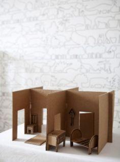 cardboard box dolls house
