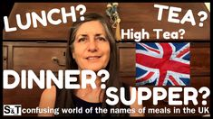Are you confused about The DIFFERENCE between LUNCH, TEA, DINNER and SUPPER in the UK? Check out this detailed explanation to clarify meals in the UK once and for all! Lunches And Dinners, Meals, Speak English Fluently, High Tea, About Uk, Confused, Check, Tea, Tea Time