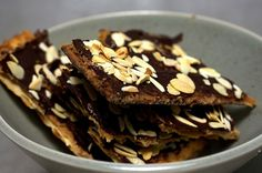 chocolate toffee crack(ers). Seder dessert...so good