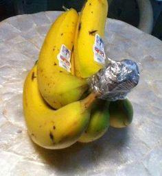 Truco para que los plátanos  duren más tiempo (3-5 días más).