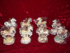 Lot of 8 Melodies County Fair Carousel Horse Music Box Set Heritage House 1