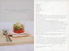 Ratatouille al bicchiere (con meringhe salate)