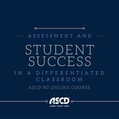 This PD Online course is designed for educators who are interested in learning more about how assessment in a differentiated classroom can assist teachers in promoting student learning.