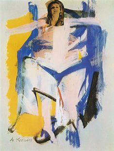 Willem de Kooning, Woman I Springs 1961 on ArtStack #willem-de-kooning #art