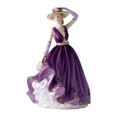 Purple Lady Figurines | Royal Doulton Pretty Lady Figurine of the Year Emma