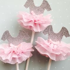 Tutu Cupcake Toppers, Pink and Gold, Princess Party, Ballerina Party- . - - Pink Cake Decoration Ideen - Baby Tips Ballerina Party, Ballerina Baby Showers, Ballerina Birthday Parties, Baby Shower Princess, Baby Girl Birthday, Princess Party, Pink Princess, Tutu Cupcakes, Baby Shower Cupcakes