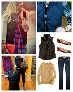 HOLY CHIC: Chic Styling: Quilted & Puffer Vest Vest Coat, Puffer Vest, Western Outfits, Holy Chic, Vest Outfits, Quilted Vest, Dress Me Up, My Style, Chic Chic