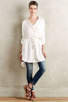 Nephele Buttondown Tunic by Love by Diego Binetti #anthrofave #anthropologie